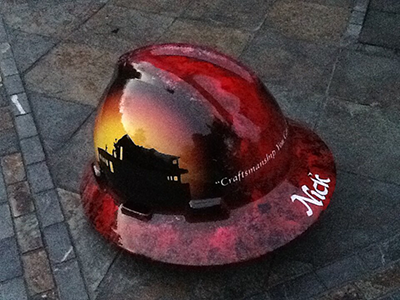 Nick's Hard Hat from Quality Seal Roofing