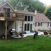 Upstairs deck remodeling by High Quality Contracting Inc