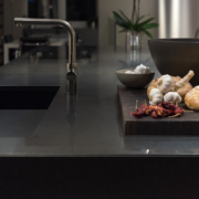black-stainless-steal-countertops