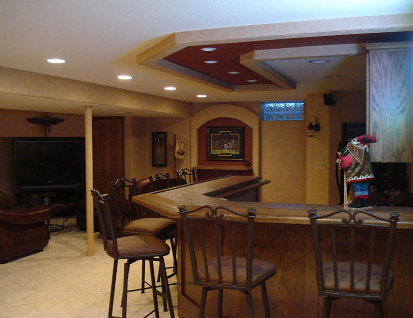 Wet bar construction by High Quality Contracting Inc