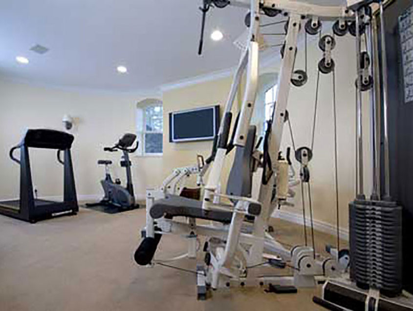 Wisconsin home construction contractor - home gym construction