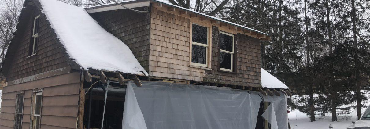 Wisconsin Garage Rebuild Before Photo