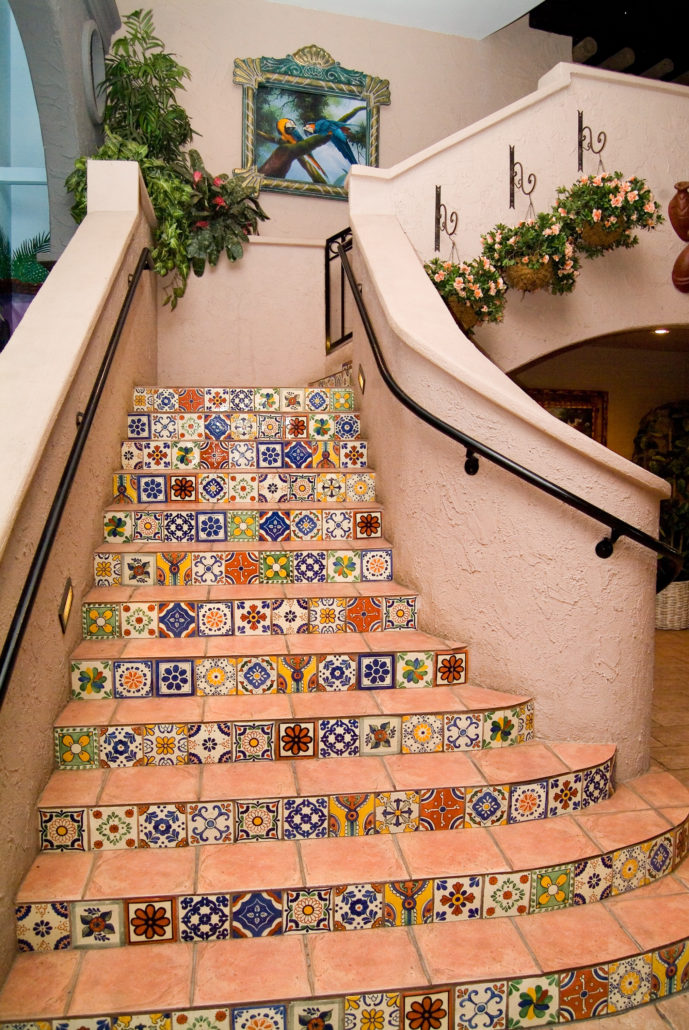 Spanish Tiles on Stairs